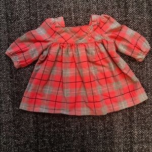 Gap plaid brushed Cotton dress size size 0-3 m